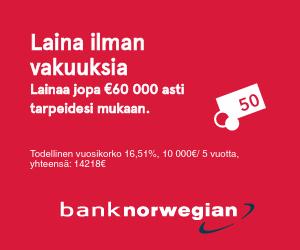 Kulutusluotto 60 000€ asti jopa 15 vuoden takaisinmaksuajalla