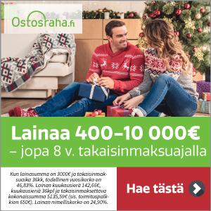 Ostorahalta lainaa 10 000€ saakka jopa 8 vuoden takaisinmaksuajalla